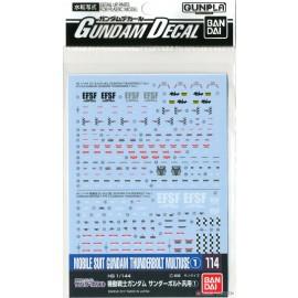 Gundam Thunderbolt Multiuse 1 Decal